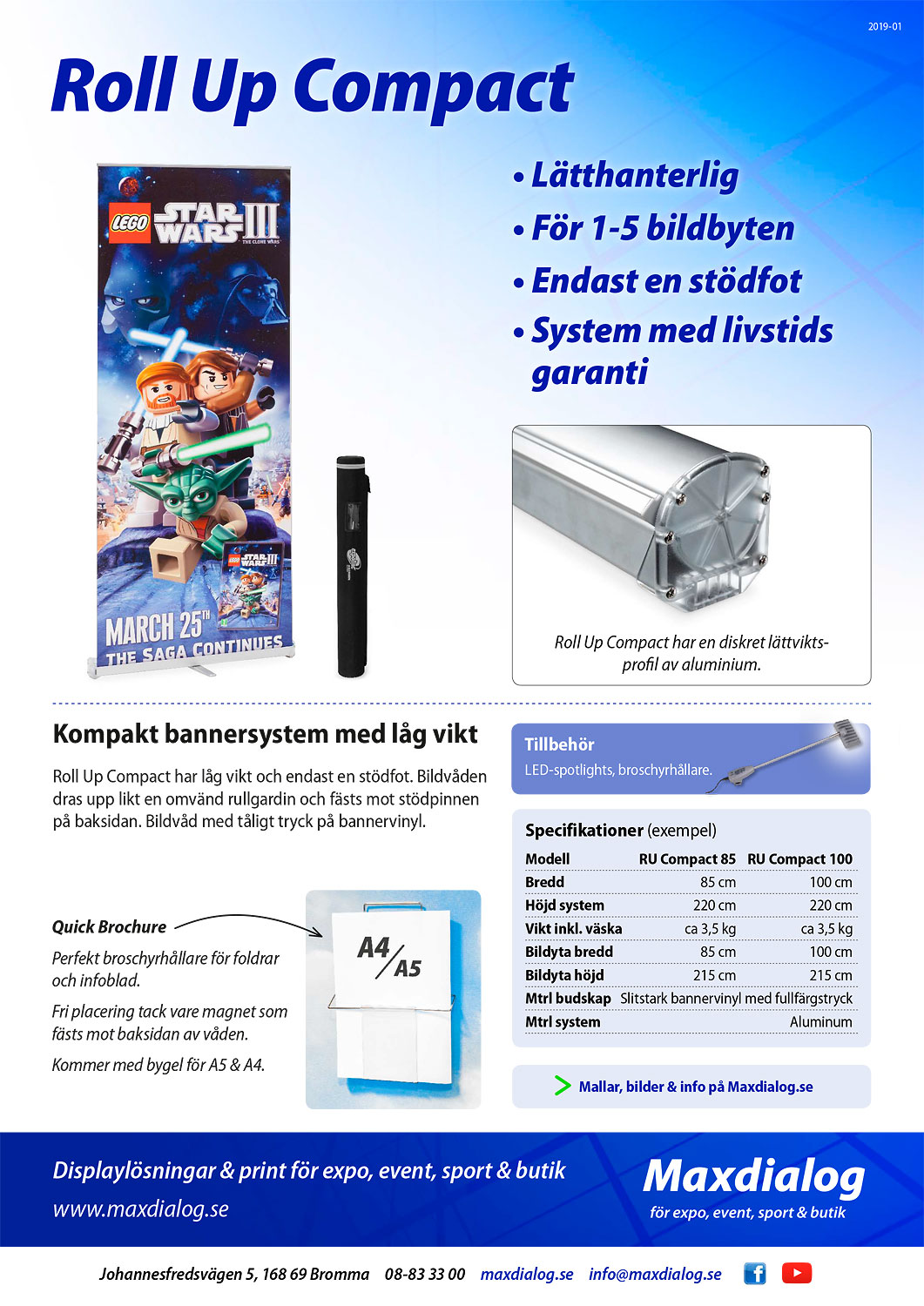 Roll Up Compact produktblad